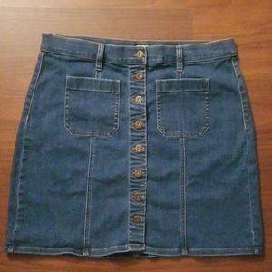 Jcrew Denim Skirt (size14)